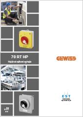 Vačkové vypínače Gewiss 70 RT HP