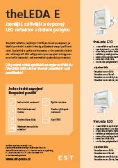 LED reflektory s čidlem pohybu Theben theLeda