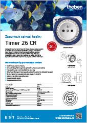 Spolehlivé zásuvkové spínací hodiny Theben Timer 26