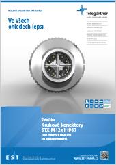 Kruhové konektory Telegärtner STX M12x1